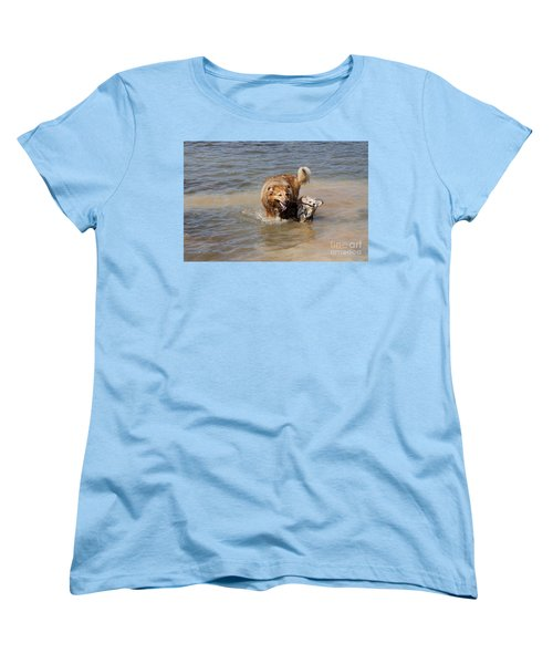 Women's T-Shirt (Standard Cut) featuring the photograph Jesse And Gremlin Sharing by Jeannette Hunt