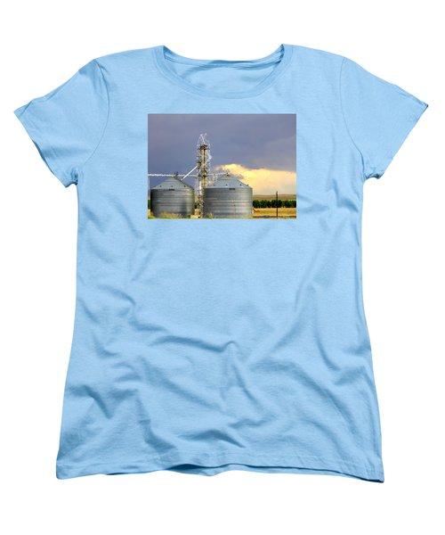 Kansas Farm Women's T-Shirt (Standard Cut) by Jeanette C Landstrom