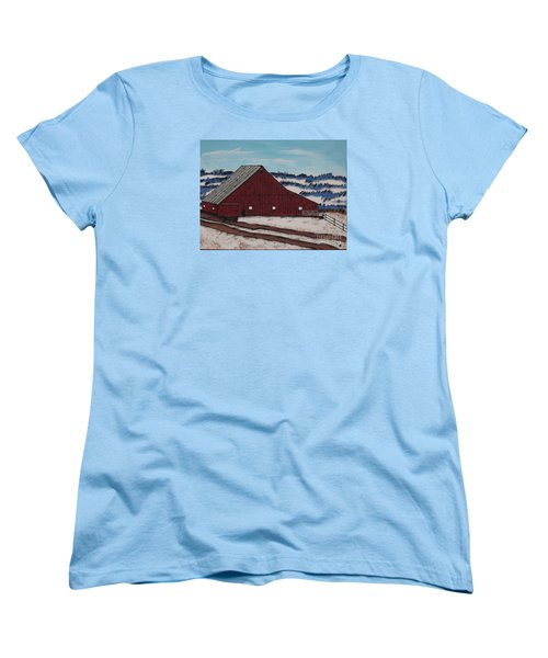 Keystone Farm Women's T-Shirt (Standard Cut) by Jeffrey Koss