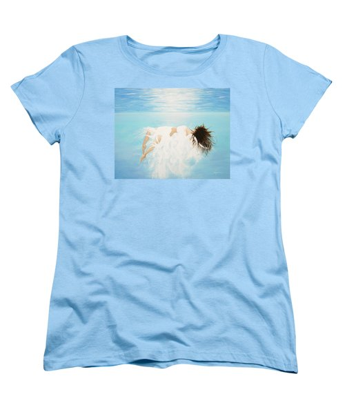 Women's T-Shirt (Standard Cut) featuring the painting Lady Of The Water by Kume Bryant
