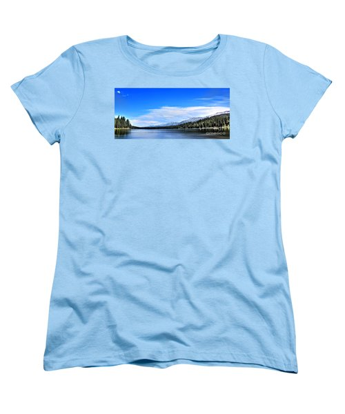 Women's T-Shirt (Standard Cut) featuring the photograph Lake Alva by Janie Johnson