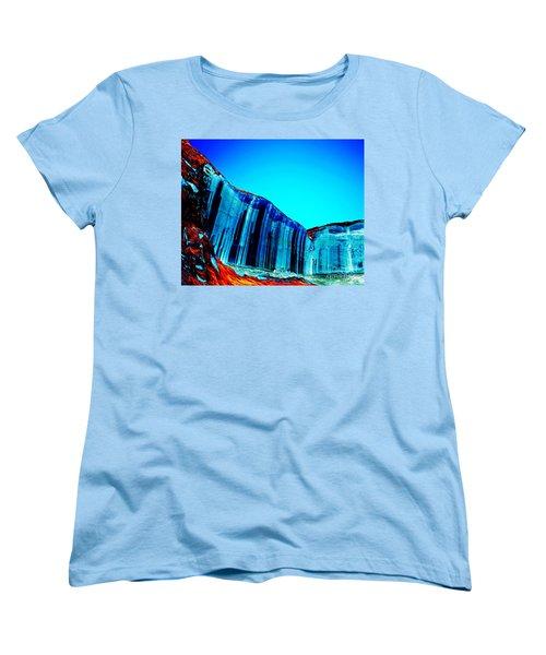 Lake Powell Blue Ice Women's T-Shirt (Standard Cut) by Rebecca Margraf