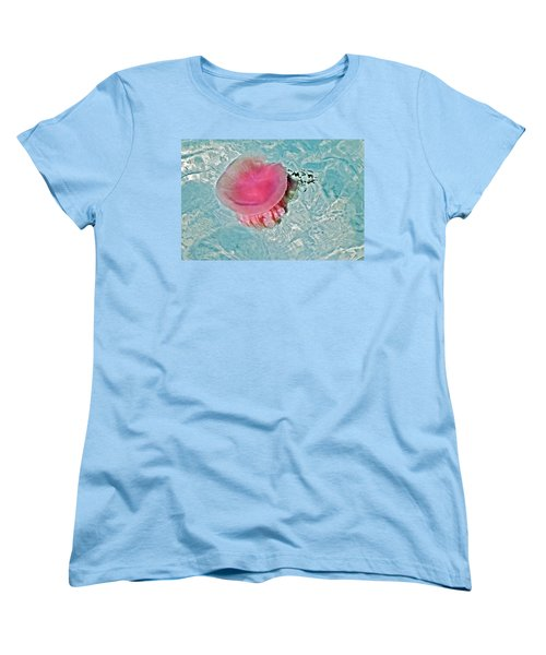 Women's T-Shirt (Standard Cut) featuring the photograph Large Colorful Jelly Fish by Susan Leggett