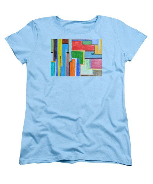 Women's T-Shirt (Standard Cut) featuring the painting Life by Sonali Gangane