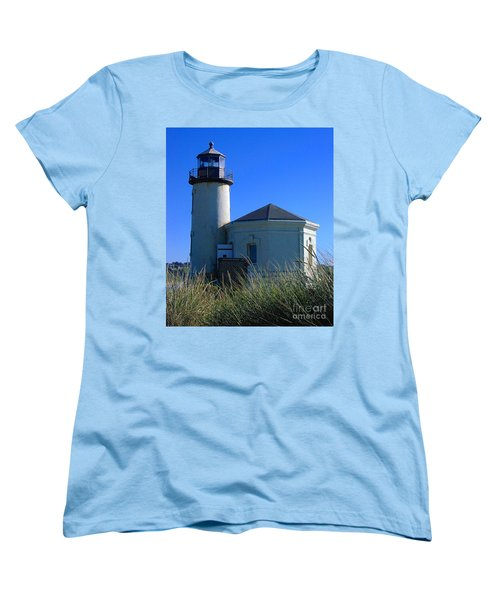 Women's T-Shirt (Standard Cut) featuring the photograph Lighthouse by Rory Sagner