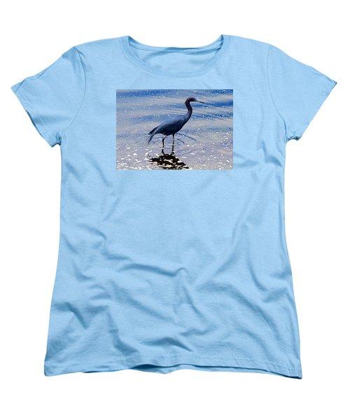 Women's T-Shirt (Standard Cut) featuring the photograph Lit'l Blue by Elizabeth Winter