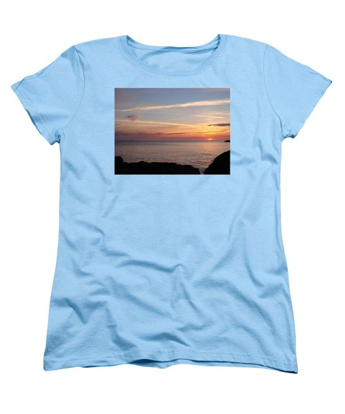 Women's T-Shirt (Standard Cut) featuring the photograph Lone Freighter On Up by Bonfire Photography