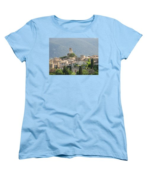Women's T-Shirt (Standard Cut) featuring the photograph Lourmarin In Provence by Carla Parris