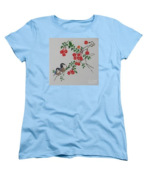 Women's T-Shirt (Standard Cut) featuring the painting Love by Sonali Gangane