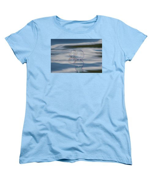 Women's T-Shirt (Standard Cut) featuring the photograph Magic On The Water by Cathie Douglas
