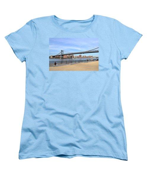 Women's T-Shirt (Standard Cut) featuring the photograph Manhattan Bridge1 by Zawhaus Photography