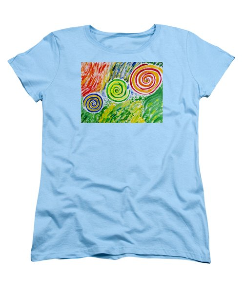 Women's T-Shirt (Standard Cut) featuring the painting Meditation by Sonali Gangane