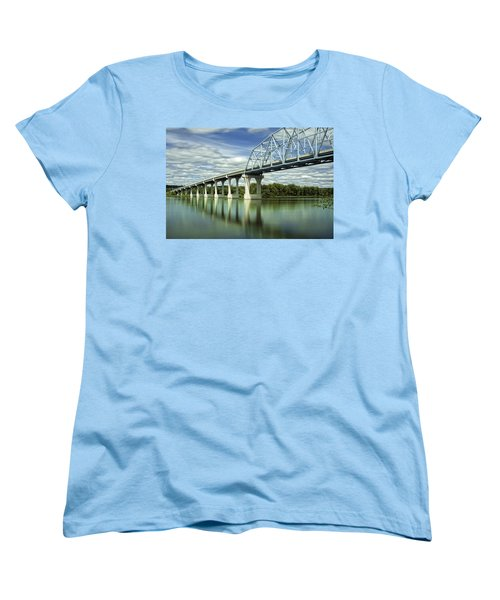 Women's T-Shirt (Standard Cut) featuring the photograph Mississippi River At Wabasha Minnesota by Tom Gort