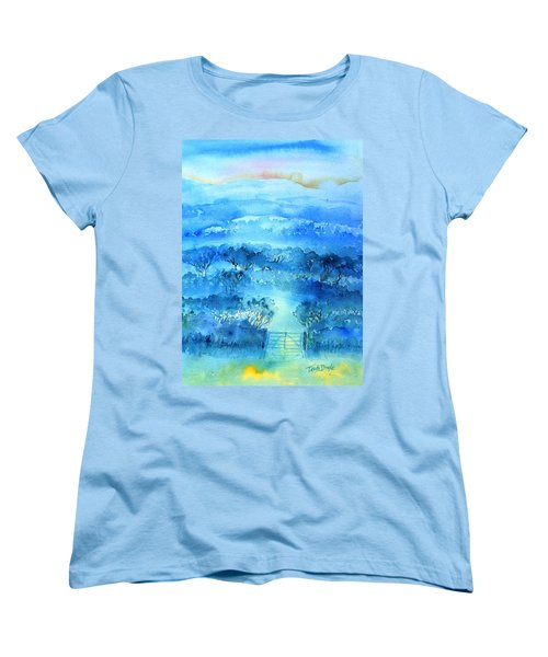 Misty Morning  Ireland  Women's T-Shirt (Standard Cut) by Trudi Doyle
