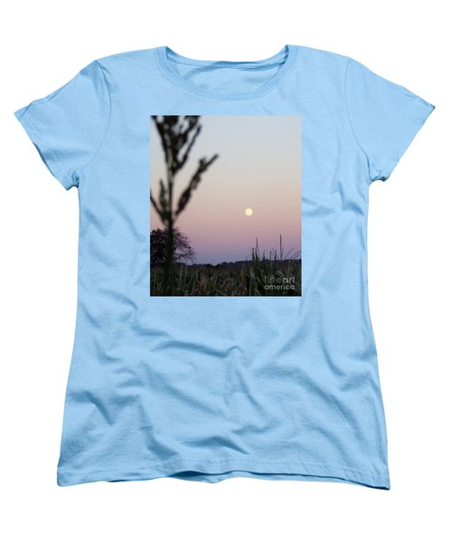 Women's T-Shirt (Standard Cut) featuring the photograph Moon by Andrea Anderegg