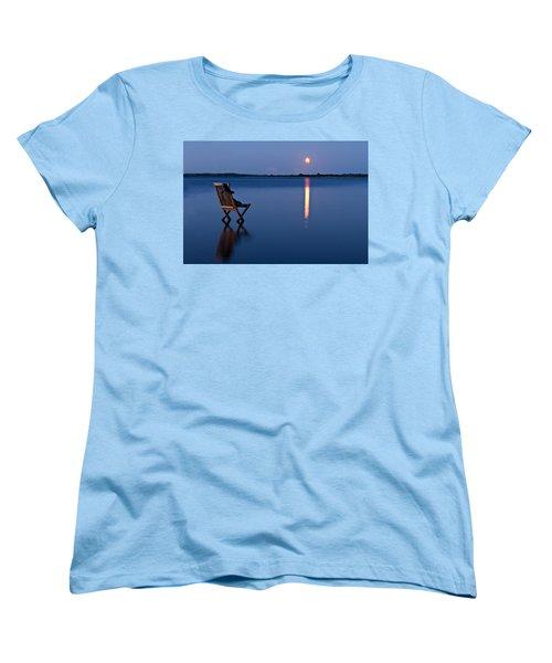Women's T-Shirt (Standard Cut) featuring the photograph Moon Boots by Gert Lavsen