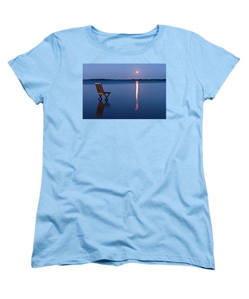Women's T-Shirt (Standard Cut) featuring the photograph Moon View by Gert Lavsen