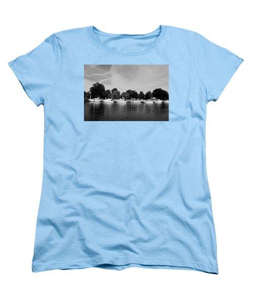 Women's T-Shirt (Standard Cut) featuring the photograph Mooring Line by Maj Seda