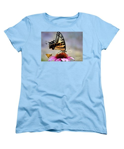 Women's T-Shirt (Standard Cut) featuring the photograph Morning Snack by Nava Thompson