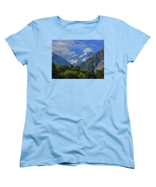 Women's T-Shirt (Standard Cut) featuring the photograph Mount Cook by David Gleeson