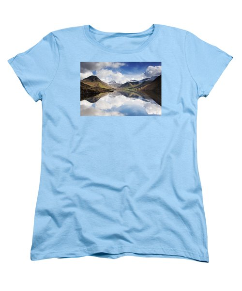 Mountains And Lake, Lake District Women's T-Shirt (Standard Cut) by John Short