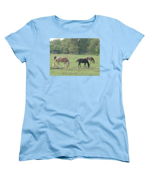 Women's T-Shirt (Standard Cut) featuring the photograph Mowing The Lawn by Bonfire Photography