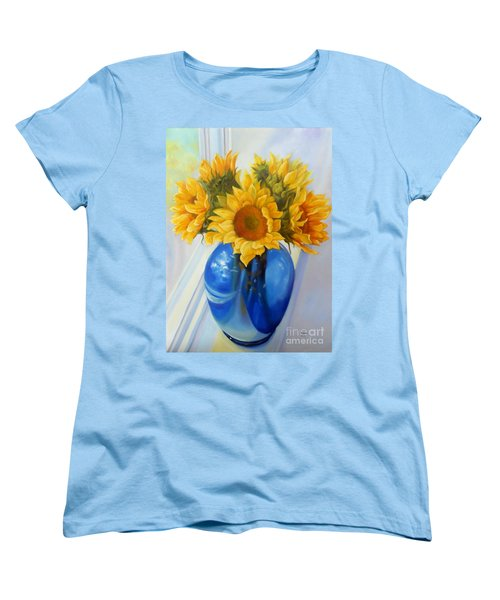 My Sunflowers Women's T-Shirt (Standard Cut) by Marlene Book