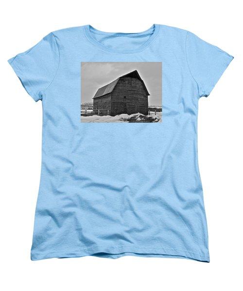Women's T-Shirt (Standard Cut) featuring the photograph Noble Barn by Eric Tressler