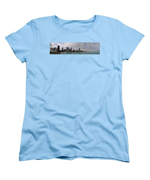Women's T-Shirt (Standard Cut) featuring the photograph North Of Navy Pier From The Series Chicago Skyline by Verana Stark