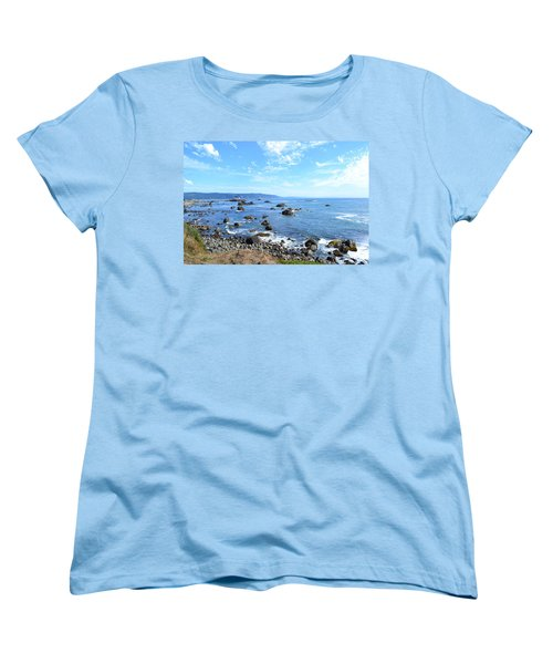 Northern California Coast3 Women's T-Shirt (Standard Cut) by Zawhaus Photography
