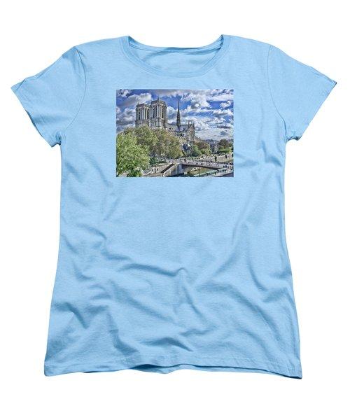 Women's T-Shirt (Standard Cut) featuring the photograph Notre Dame by Hugh Smith