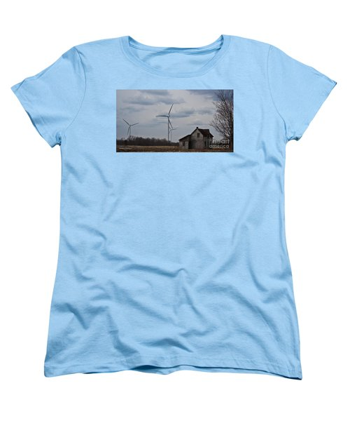 Women's T-Shirt (Standard Cut) featuring the photograph Old And New by Barbara McMahon