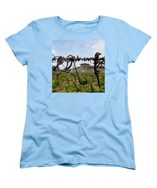 Women's T-Shirt (Standard Cut) featuring the photograph Old And New  by Lainie Wrightson