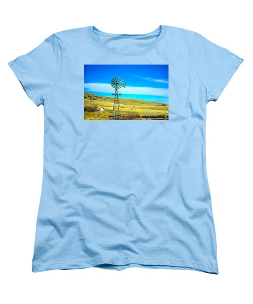 Women's T-Shirt (Standard Cut) featuring the photograph Old Windmill by Shannon Harrington