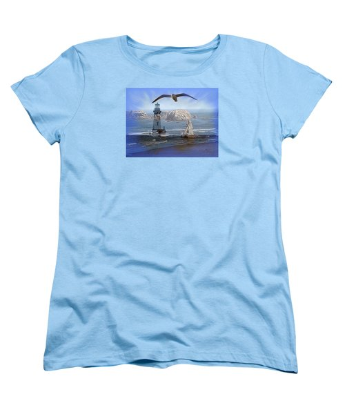 Women's T-Shirt (Standard Cut) featuring the photograph Oregon Coast Composite by Nick Kloepping