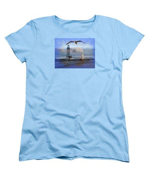 Oregon Coast Composite Women's T-Shirt (Standard Cut)