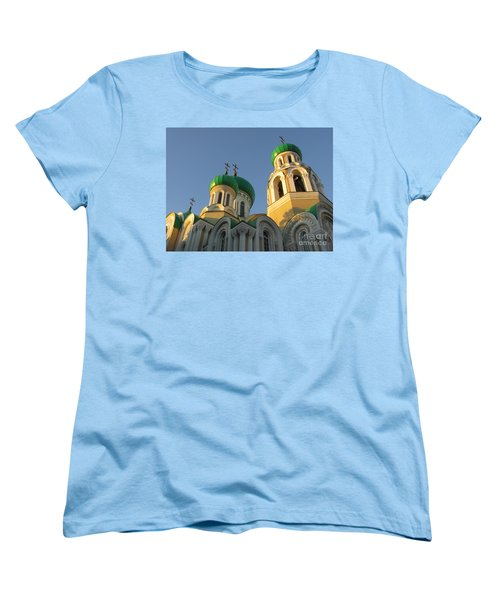 Orthodox Church Of Sts Michael And Constantine- Vilnius Lithuania Women's T-Shirt (Standard Cut) by Ausra Huntington nee Paulauskaite