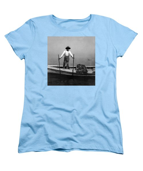 Oyster Fishing On The Chesapeake Bay - Maryland - C 1905 Women's T-Shirt (Standard Cut) by International  Images