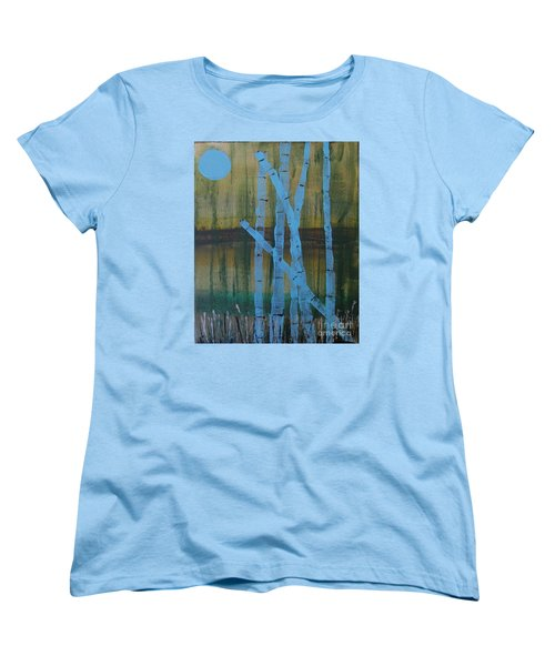 Pale Blue Moon Women's T-Shirt (Standard Cut)