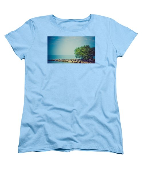 Women's T-Shirt (Standard Cut) featuring the photograph Paradise Cove by Sara Frank