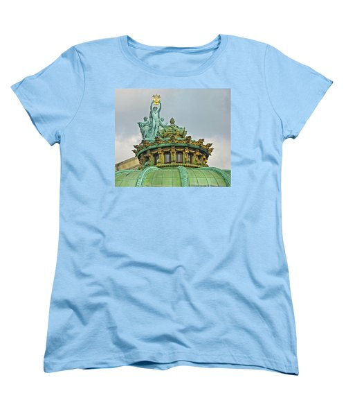 Women's T-Shirt (Standard Cut) featuring the photograph Paris Opera House Roof by Dave Mills