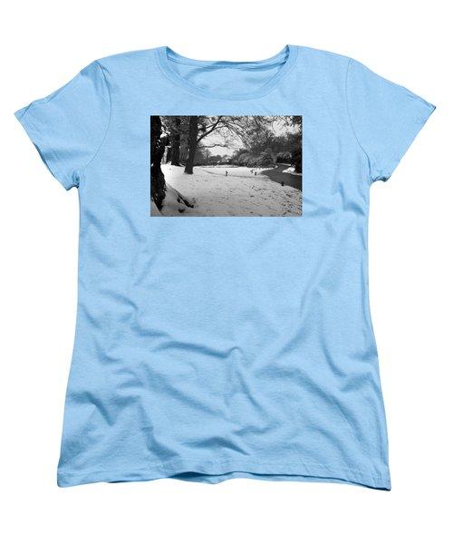Women's T-Shirt (Standard Cut) featuring the photograph Park Cottage by Maj Seda