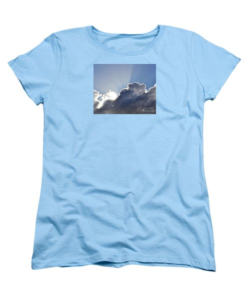 Partly Cloudy Women's T-Shirt (Standard Cut) by Rebecca Margraf