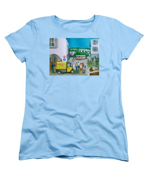 Patmos Fish Monger Women's T-Shirt (Standard Cut) by Frank Hunter