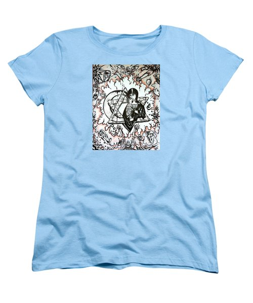 Women's T-Shirt (Standard Cut) featuring the drawing Peace Process by Rae Chichilnitsky