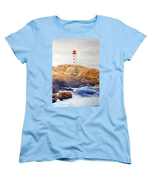 Peggy's Cove Women's T-Shirt (Standard Cut) by Laurel Best