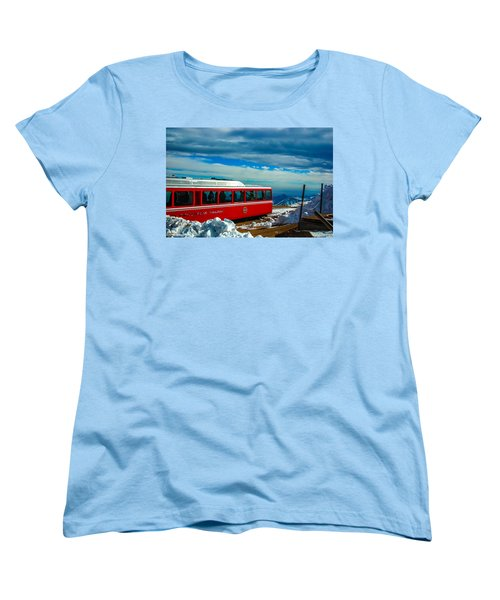 Women's T-Shirt (Standard Cut) featuring the photograph Pikes Peak Railway by Shannon Harrington