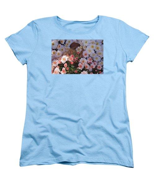 Women's T-Shirt (Standard Cut) featuring the photograph Pink Mum by Joseph Yarbrough