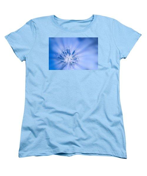 Women's T-Shirt (Standard Cut) featuring the photograph Pollination  Blue Chicory by Randall Branham