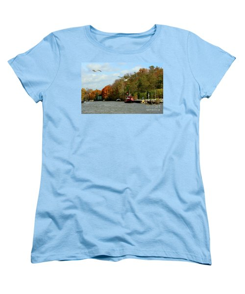 Women's T-Shirt (Standard Cut) featuring the photograph Port Dover Harbour by Barbara McMahon
